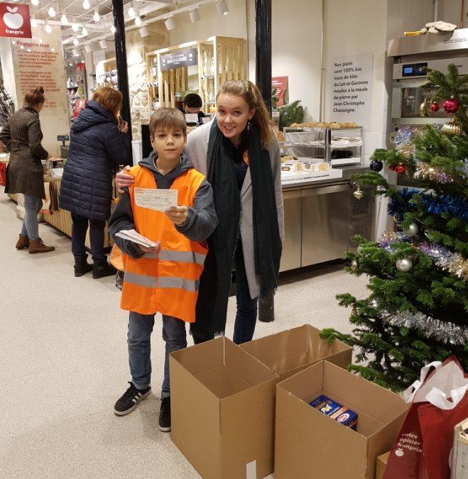 Les élèves du CPP donne un coup de main pour la collecte de la banque alimentaire