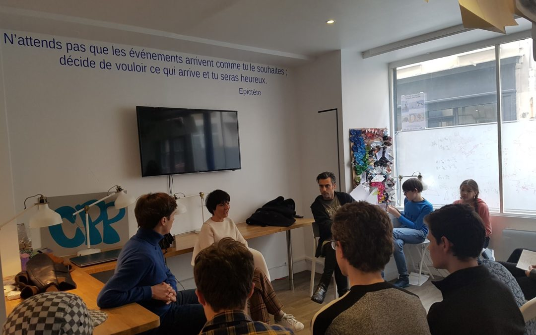 Florence Foresti avec les élèves du CPP